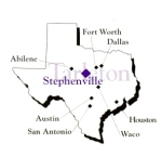 Stephenville, TX Map